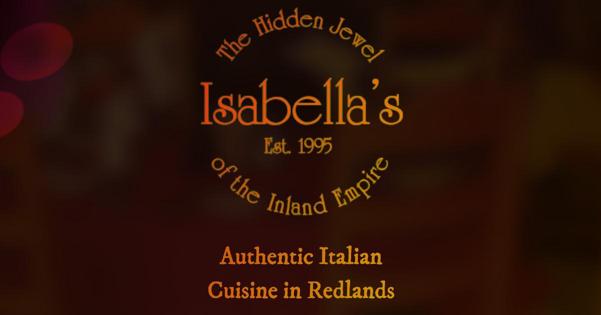Isabella S Italian Restaurant Redlands